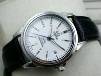 OMEGA新款欧米茄蝶飞系列手表机械黑色皮带四针男士腕表