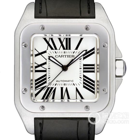 V6卡地亚山度士方形男士机械手表