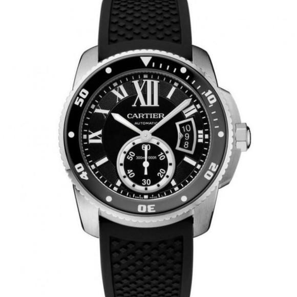 高仿卡地亚卡历博系列W7100056潜水腕表硅胶带