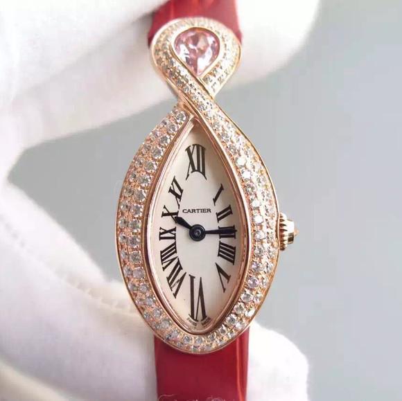 V6Cartier卡地亚创意宝石女士腕表系列 蓝宝石水晶玻璃