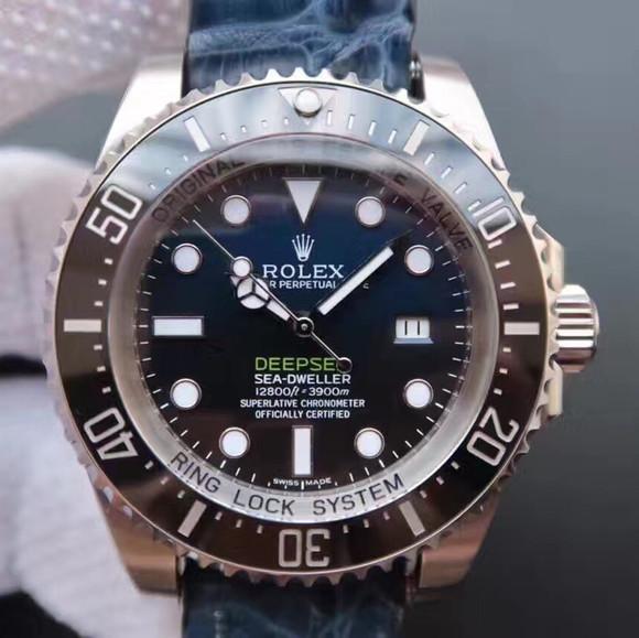 劳力士渐变蓝黑鬼王v7终极版SEA潜航者116660顶级鳄鱼皮款