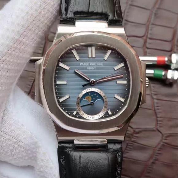 百达翡丽运动系列鹦鹉螺月相腕表,40.5毫米直径
