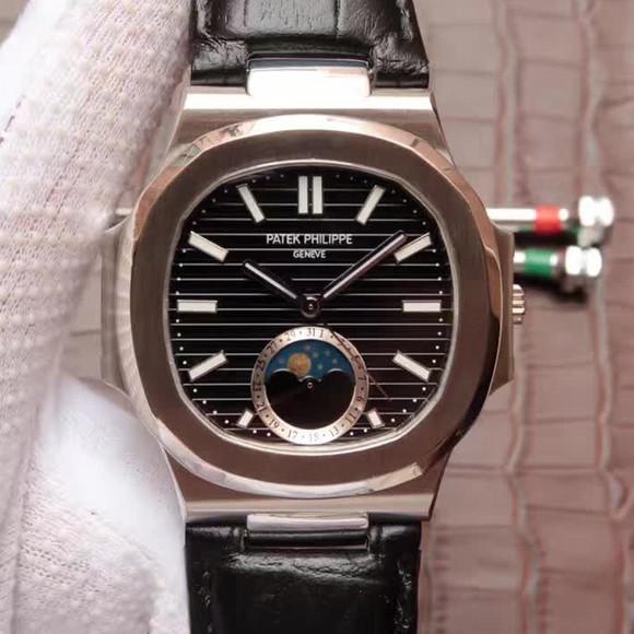 百达翡丽运动系列鹦鹉螺月相腕表