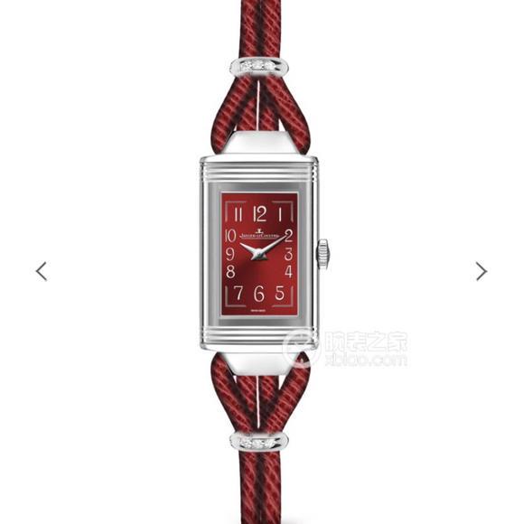 MG积家翻转系列3264520 瑞士石英  搭配真皮绳表带 女士腕表