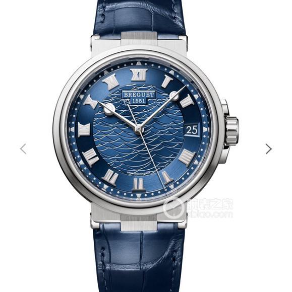V9宝玑MARINE航海系列5517款腕表,意大利鳄鱼纹真牛皮 自动机械男士腕表