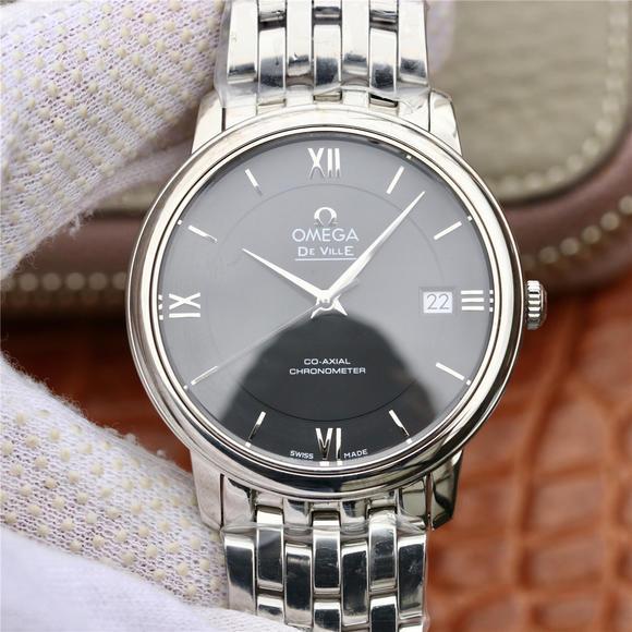 VK欧米茄蝶飞系列424.10.37.20.02.001,精钢表带 自动机械男士腕表