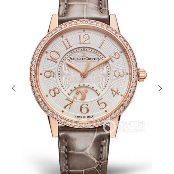 一比一复刻积家约会系列月相镶钻女士,玫瑰金机械手表