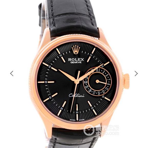 MKS厂劳力士切利尼系列50515玫瑰金黑面手表