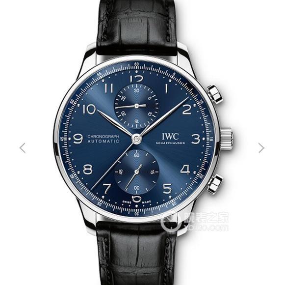 YL万国V7版本蓝面葡计上市 皮带表 男士机械手表