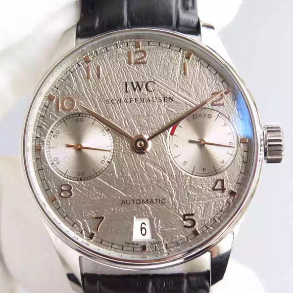 YL万国新款葡7葡七陨石限量版葡萄牙7日链V5版 牛皮表带 Cal.51011全自动机芯 男士腕表