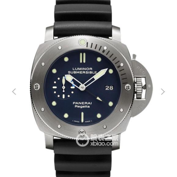 XF沛纳海珍藏系列 pam371 硅胶表带 P9001自动机械 男士腕表