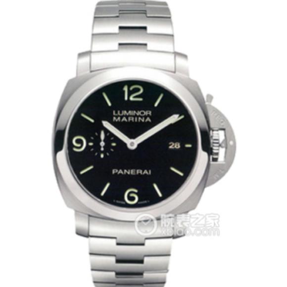 ZF沛纳海v5版pam328自动p9000机械机芯全精钢表带透底跑秒男士手表