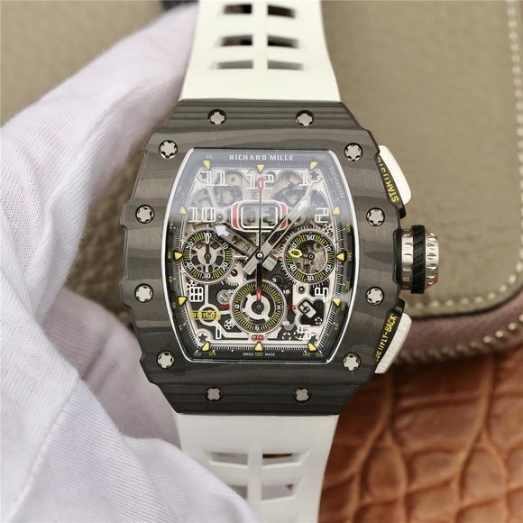 KV理查德米尔米勒RM11-03系列 男士机械手表 (白色胶带)