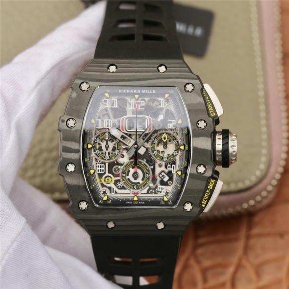 KV理查德米尔米勒RM11-03系列 男士机械手表 (黑色胶带)