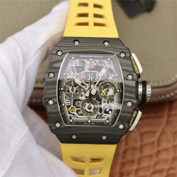 KV理查德米尔米勒RM11-03系列 男士机械手表 (黄色胶带)