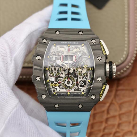 KV理查德米尔米勒RM11-03系列 男士机械手表 (蓝色胶带)