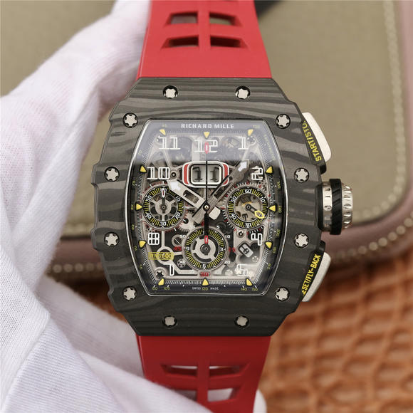 KV理查德米尔米勒RM11-03系列 男士机械手表 (红色胶带)
