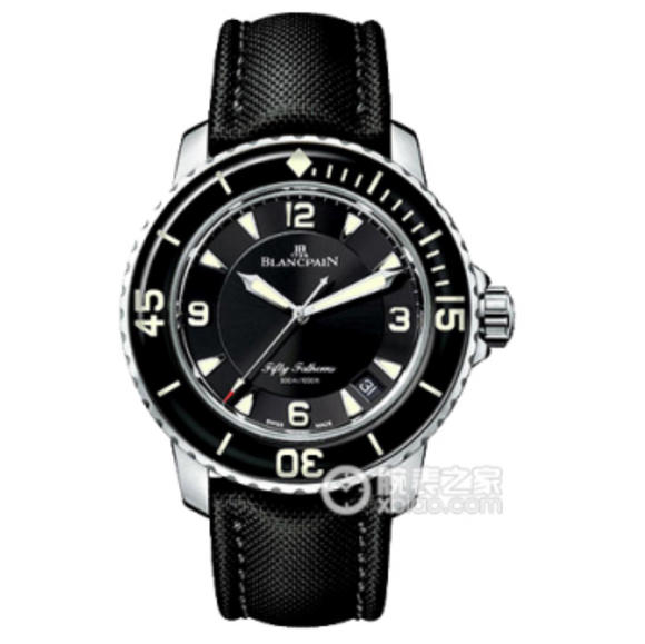 N宝珀五十? 型号:5015-1130-52瑞士2836机芯 男士腕表 尼龙表带