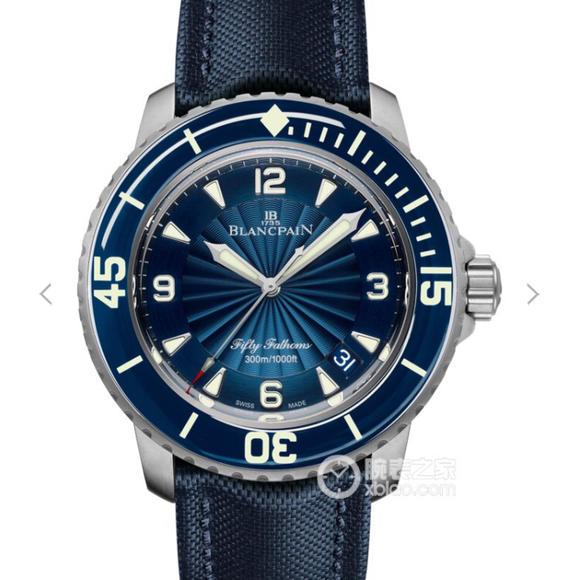 ZF宝珀五十?5015-1140-52B蓝色 100%原装开模 皮带表 自动机械机芯 男士腕表
