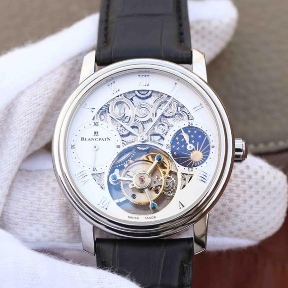 BM宝珀巨匠系列00235-3631-55B铂金腕表 真皮表带 真陀飞轮机芯 男士腕表