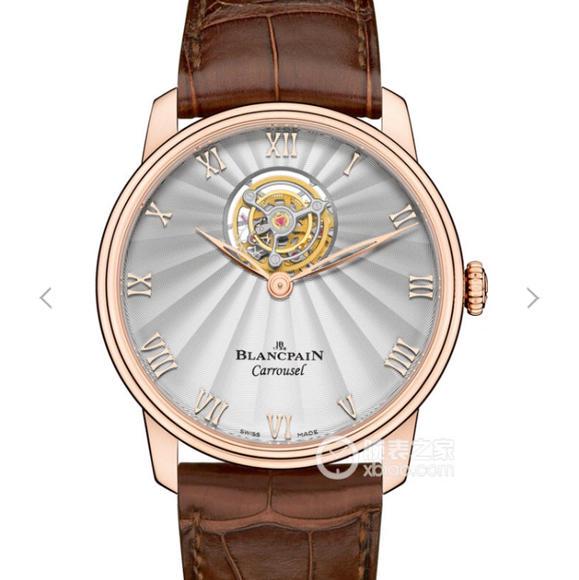 宝珀经典系列66228自动真陀飞轮腕表 皮带表 自动真陀飞轮机芯 男士腕表