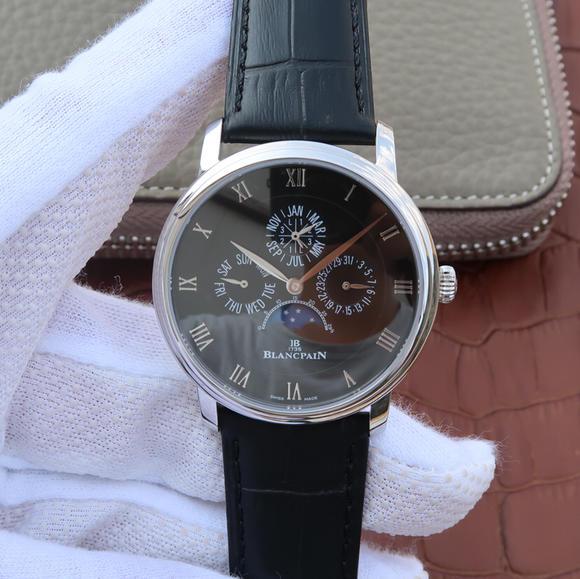 N宝珀VILLERET系列6659-3431 皮带表 自动机械机芯 男士腕表