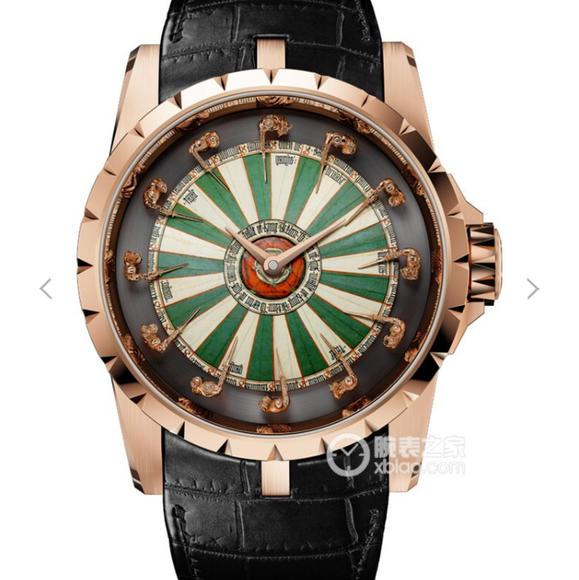 罗杰杜彼圆桌骑士RDDBEX0398彩色表盘圆桌骑士 男士顶级腕表
