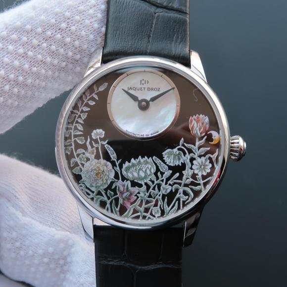 TW雅克德罗【女神】腕表  表里如一 独具匠心!烧钢蓝指针 女士腕表