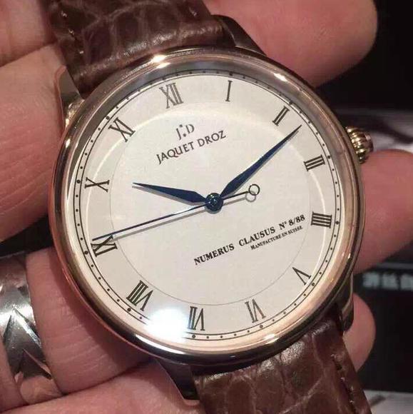 MKS雅克得罗男士机械手表 进口机械机芯 鳄鱼皮表带