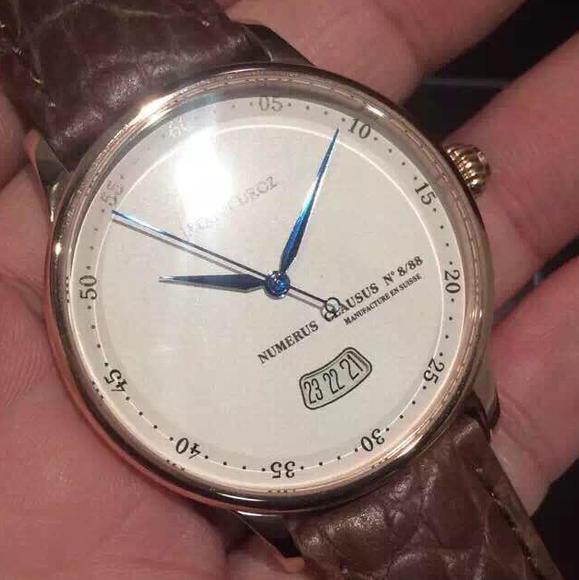 MKS雅克德罗男士机械手表大日历款 进口机械机芯 鳄鱼皮表带