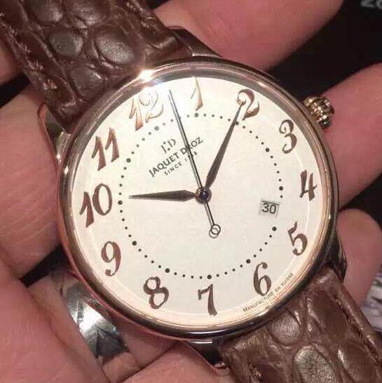 MKS雅克德罗阿拉伯数字 男士机械手表 进口机械机芯 鳄鱼皮表带