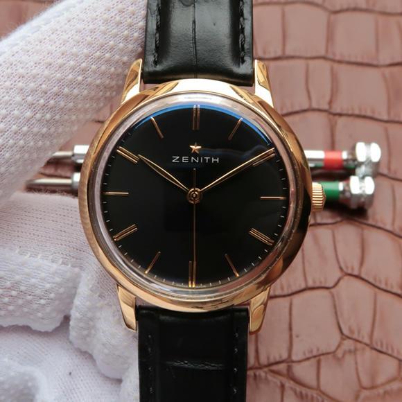 H真力时ELITE系列超薄款式03.2270.6150/01.C498 男士皮带机械手表