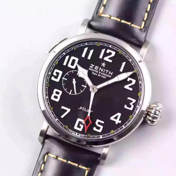 XF真力时 飞行员 新品上线 牛皮表带 进口全自动机械机心 男士手表