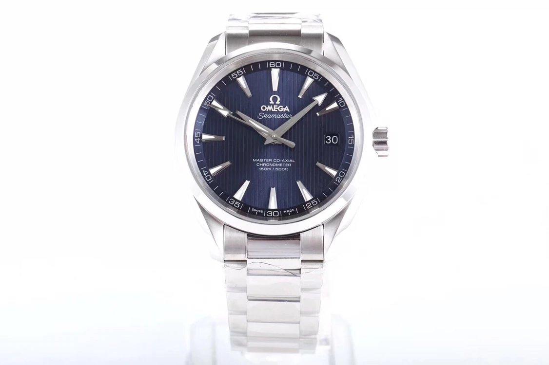 VS厂欧米茄海马系列150米蓝面自动机械手表