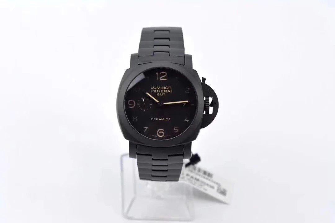 VS厂沛纳海pam00438机械陶瓷手表 超强夜光