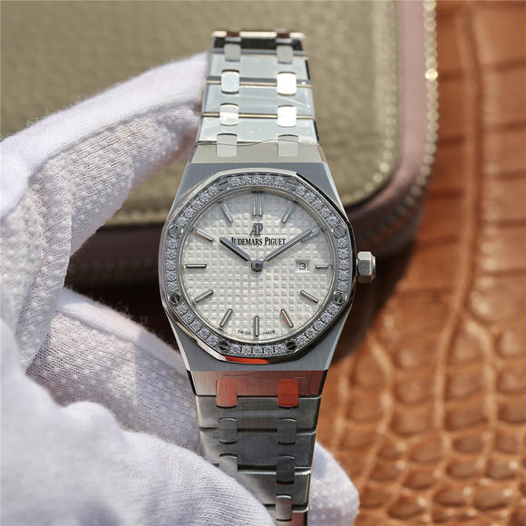 JF爱彼67650 行业唯一买正品开模  ETA石英金色机芯 女士腕表
