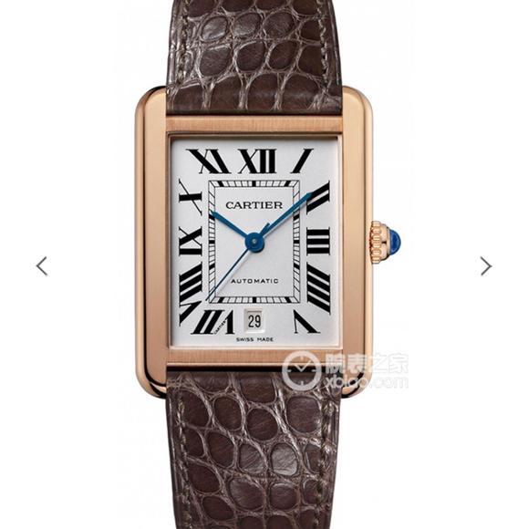 卡地亚坦克系列W5200026腕表 腕表尺寸31x41mm  男士皮带机械手表