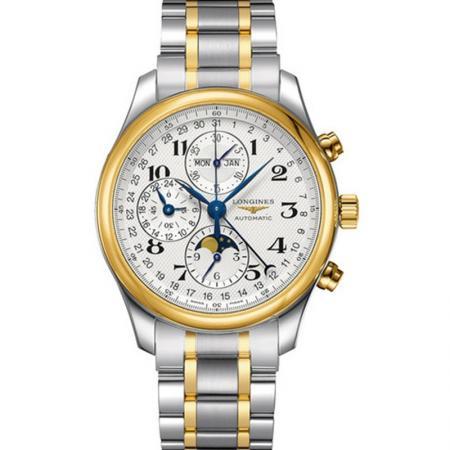 GS浪琴名匠月相L2.773.5.78.7腕表 采用上海7751机芯改原装L.687型机芯精钢表带