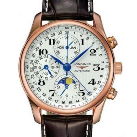 GS浪琴名匠月相L2.773.4.78.3腕表 采用上海7751机芯改原装L.687型机芯 皮表带
