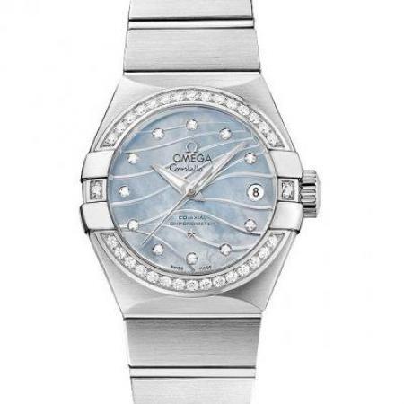 一比一正品开模欧米茄星座123.15.27.20.57.001机械女士手表