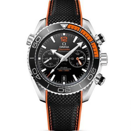 OM厂欧米茄海马215.32.46.51.01.001海洋计时男士机械表 四分之一橙