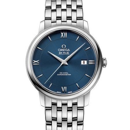 MKS厂欧米茄蝶飞系列424.10.40.20.03.001男士机械钢带手表 蓝盘