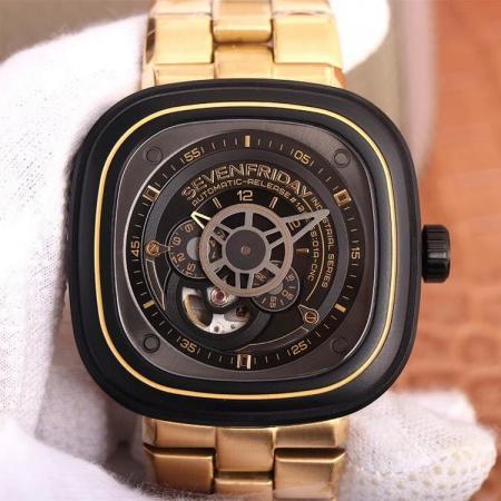 SV七个星期五,自动机械男士精钢腕表,市场最高版本
