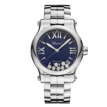 YF厂萧邦快乐钻石系列278559-3009女士腕表,自动机械机芯,精钢表带