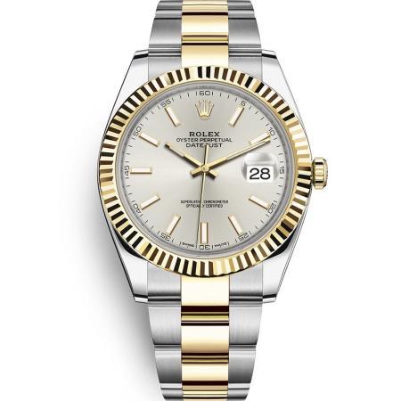 WWF厂手表劳力士日志型系列m126333-0001男士自动机械手表,18k间金