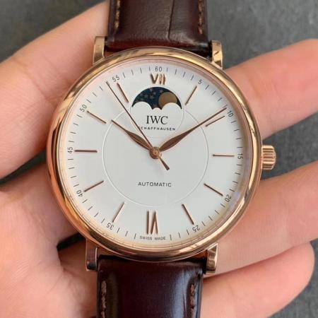 MKS厂顶级复刻万国柏涛菲诺系列月相男士机械手表 白盘