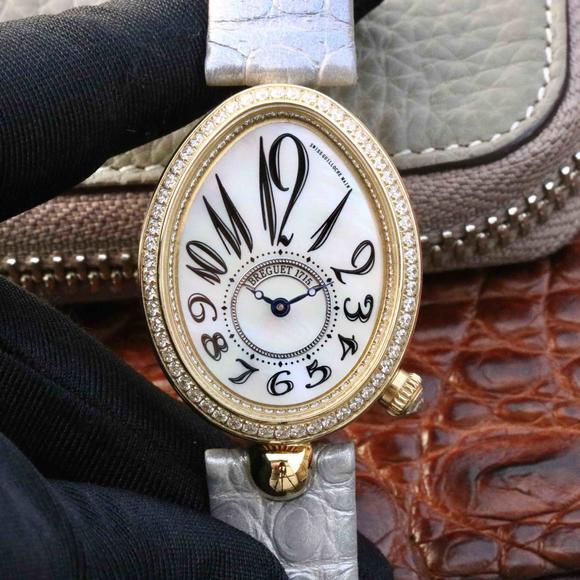 宝玑那不勒斯女表,高品质女士机械腕表 18k金