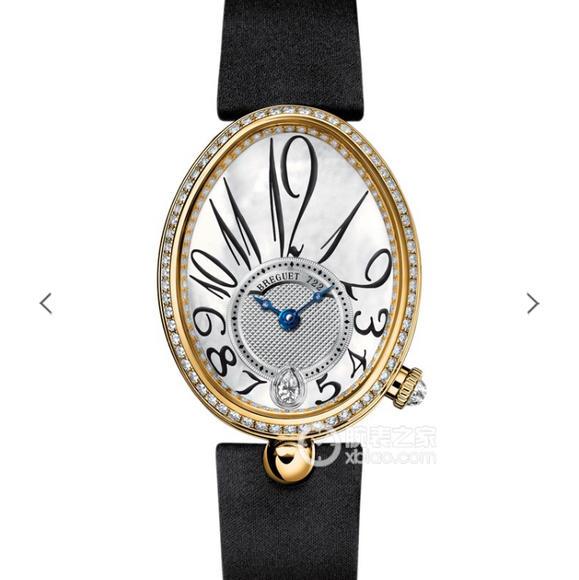 宝玑那不勒斯女表,高品质女士机械腕表,镶钻18k金