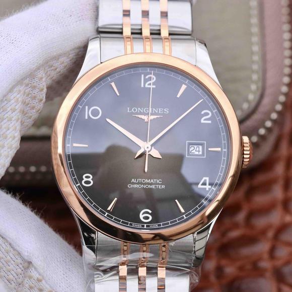 AF浪琴开创者系列男士机械手表 新款 纤薄的圆弧型壳套 咖啡面 间金