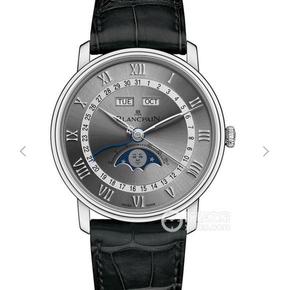 OM厂宝珀villeret经典6654月相显示系列灰面 男士机械手表 6654最强V2升级版